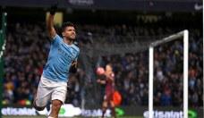 Agüero celebrando gol